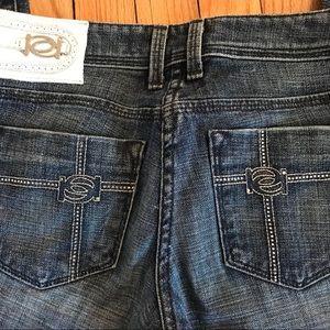 Bebe rhinestone logo jeans! Size 25 authentic